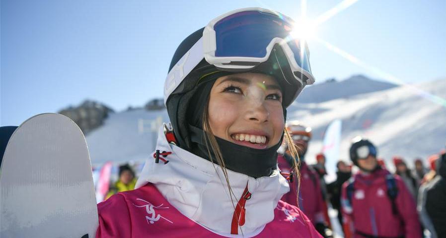 自由式滑雪女子U型場地決賽:中國選手谷愛淩奪冠