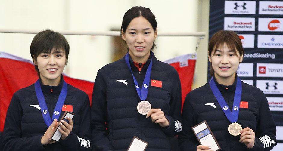 四大洲锦标赛:中国队获女子团体追逐季军