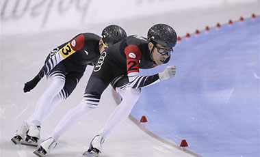 速滑單項世錦賽:中國隊獲得男子團體競速亞軍