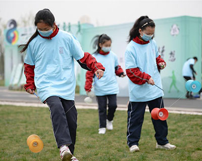 全民健身:成都舉行天府綠道健康行活動