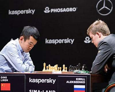国际象棋候选人赛:丁立人、王皓战平对手 领头羊涅波不敌瓦谢尔
