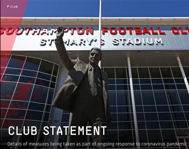 英超第一家 南安球員同意部分薪水延期支付