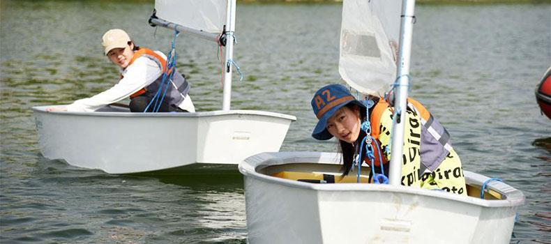 全民健身:濟南青少年湖面揚帆