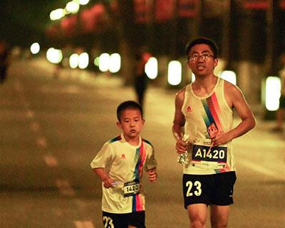 全民健身:周末夜跑