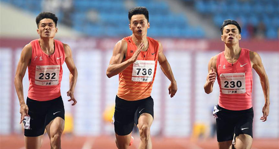全國田徑錦標賽:男子100米決賽賽況