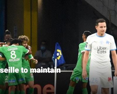 法甲單場:聖埃蒂安客勝馬賽暫居積分榜首
