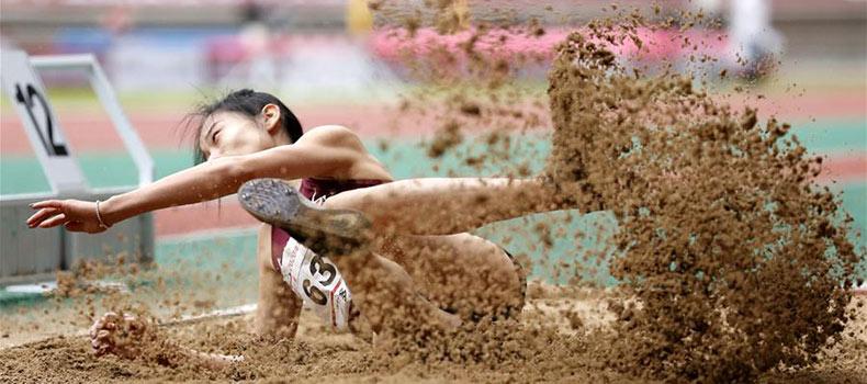 全國錦標賽:女子三級跳遠決賽賽況