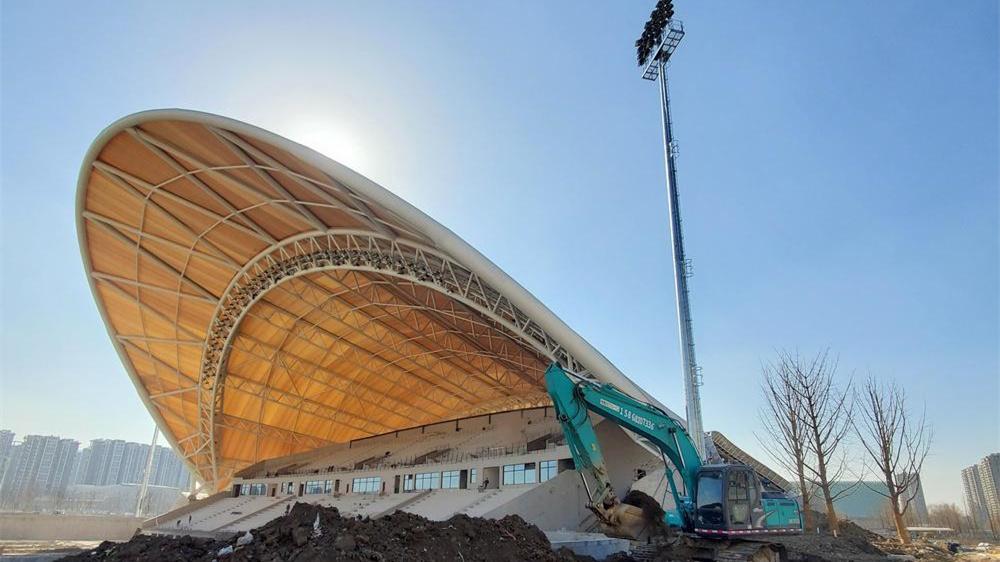 """杭州最大的一把""""傘""""撐開了——亞運會曲棍球場屋面膜安裝完成"""