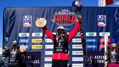 再添首金 谷愛淩摘得自由式滑雪世錦賽U型場地項目金牌