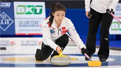 女子冰壺世錦賽第二日中國隊兩戰一勝一負