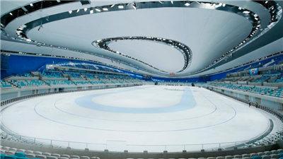 """走近冬奧 約1.2萬平方米全冰面首次在""""冰絲帶""""亮相"""