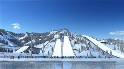 河北淶源:國家跳臺滑雪訓練科研基地BIG AIR單板大跳臺建成