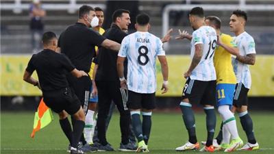 世預賽巴西阿根廷大戰因阿球員違反防疫規定被暫停