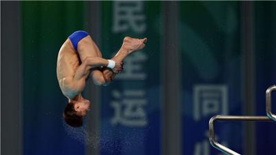 楊健強勢登頂淚灑賽場 全運會跳水比賽收官