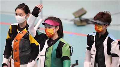 苗婉茹女子50米步槍三姿超世界紀錄奪金
