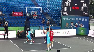 姚明觀戰U19三人籃球 上海隊絕殺湖北隊