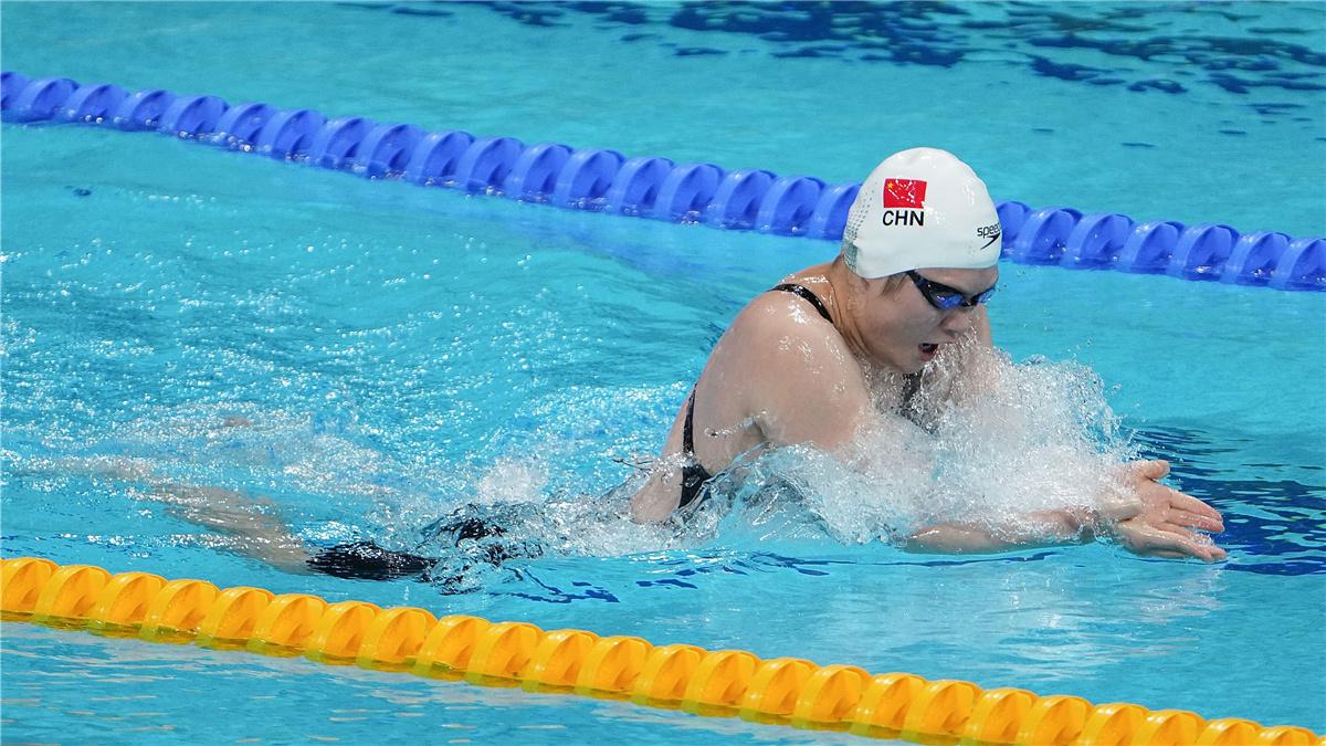 全運會-遊泳女子4X200米混合泳接力決賽:浙江隊獲得冠軍