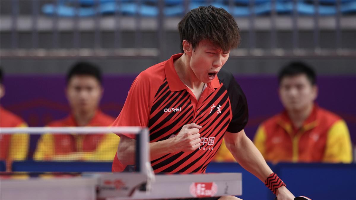 全運會-乒乓球男團:廣東隊晉級四強