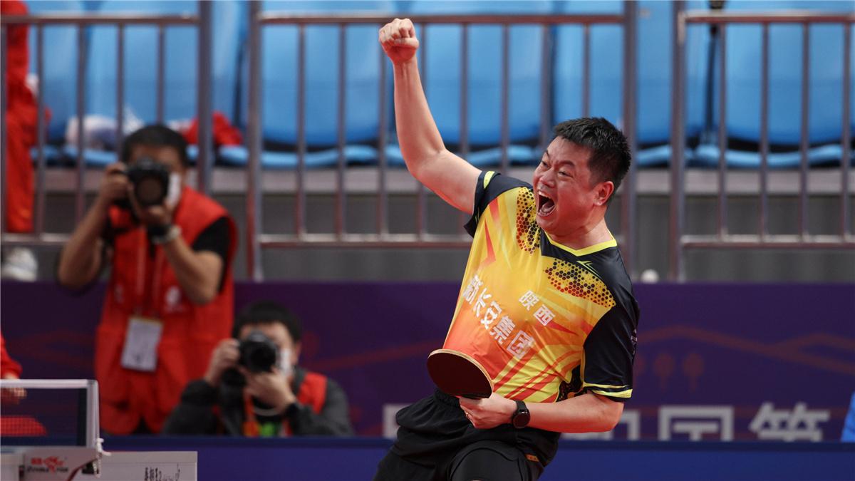 全運會-乒乓球男團:陜西隊晉級四強
