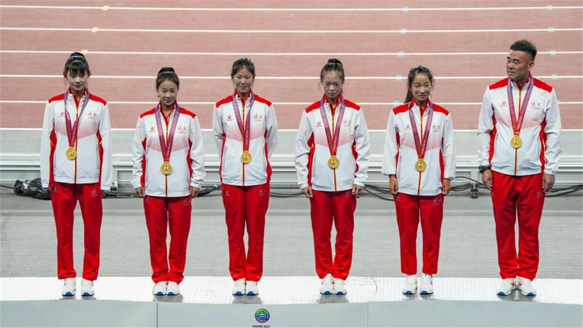 全運會-田徑:陜西隊女子20公裏競走團體奪冠