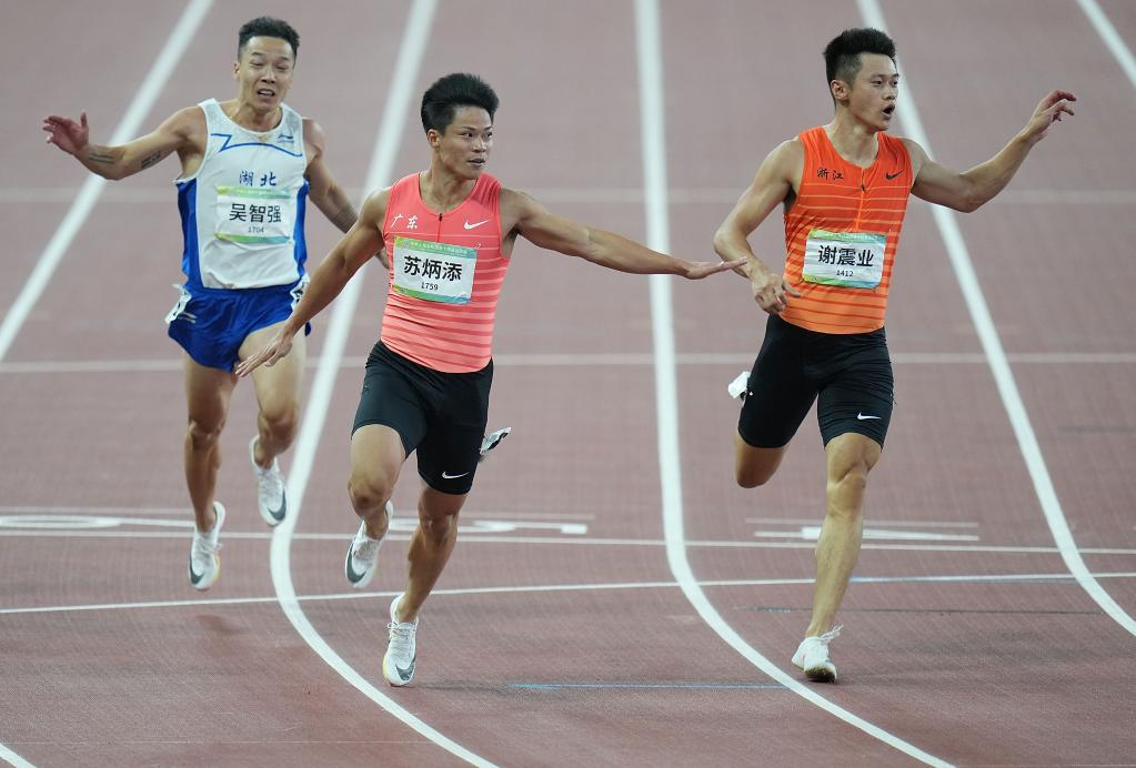 全運會-田徑:蘇炳添奪得男子百米冠軍
