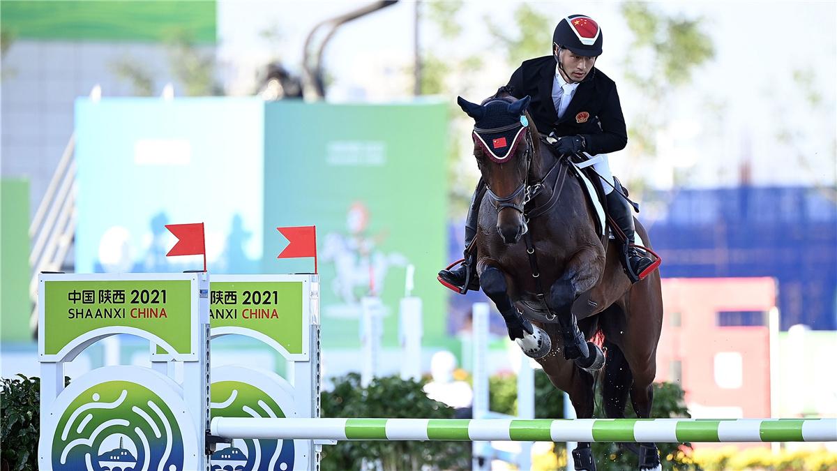 全運會-馬術三項賽個人:江蘇隊包英鳳奪冠