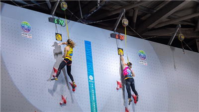 牛笛超女子速度攀岩世界紀錄