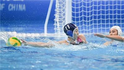 湖南隊與聯合隊晉級女子水球決賽