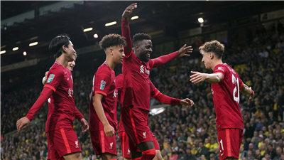 英聯杯:利物浦勝諾維奇