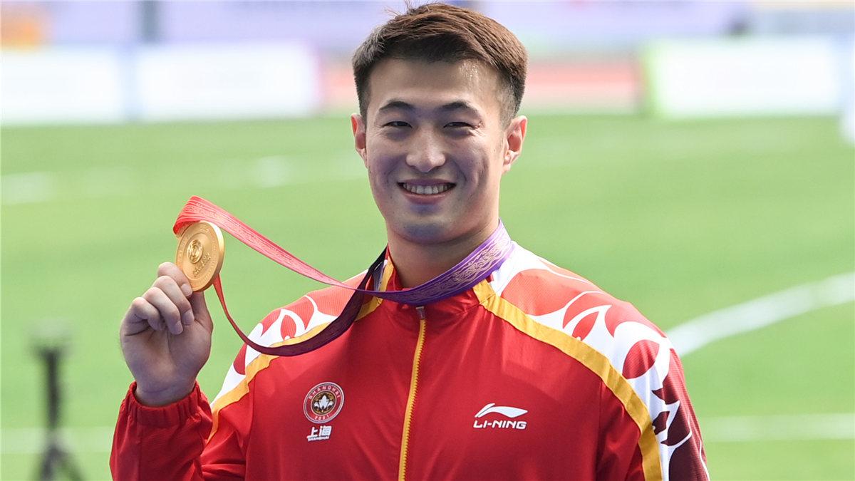 全運會-田徑男子標槍決賽:上海隊選手徐家傑獲得冠軍