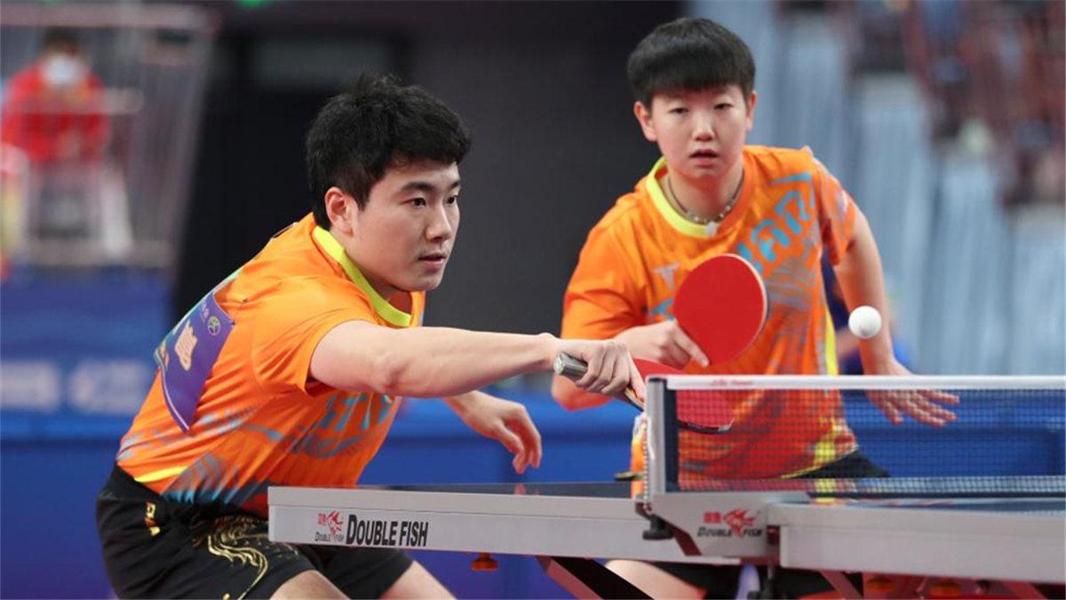 全運會-乒乓球混合雙打:河北隊梁靖崑/孫穎莎晉級八強