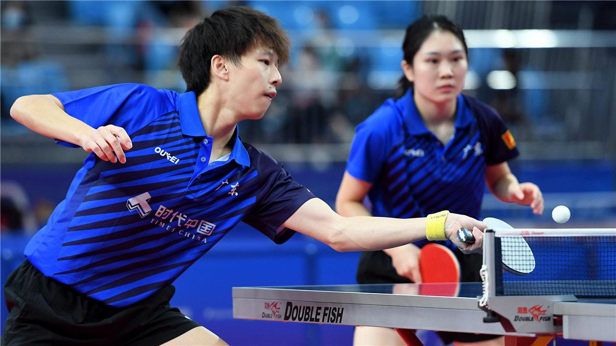 全運會-乒乓球混合雙打:林高遠/黃穎琦晉級八強