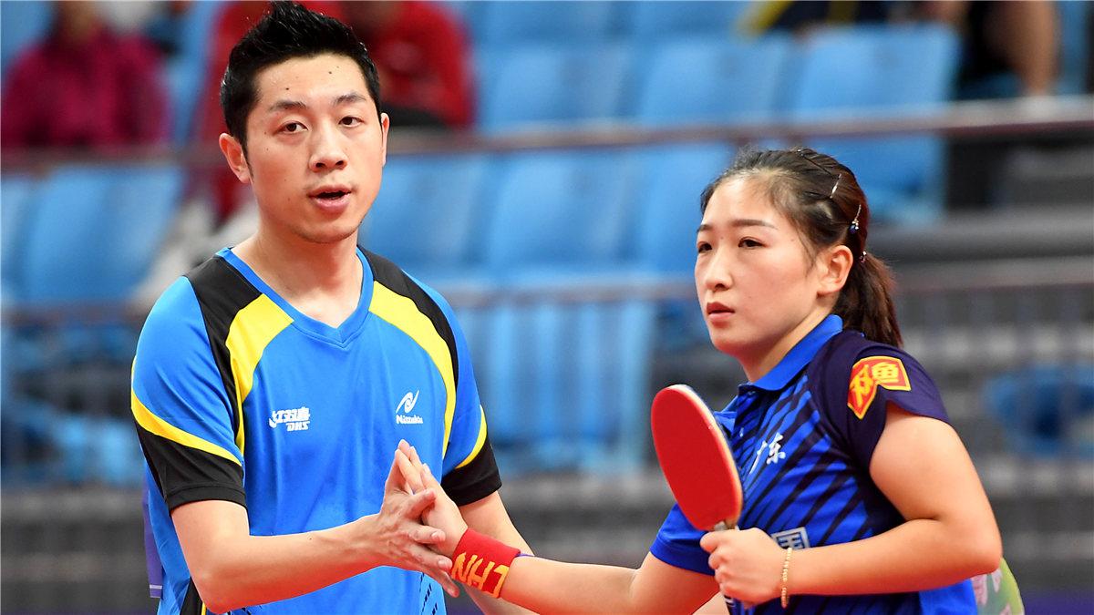 全運會-乒乓球混合雙打:許昕/劉詩雯晉級八強