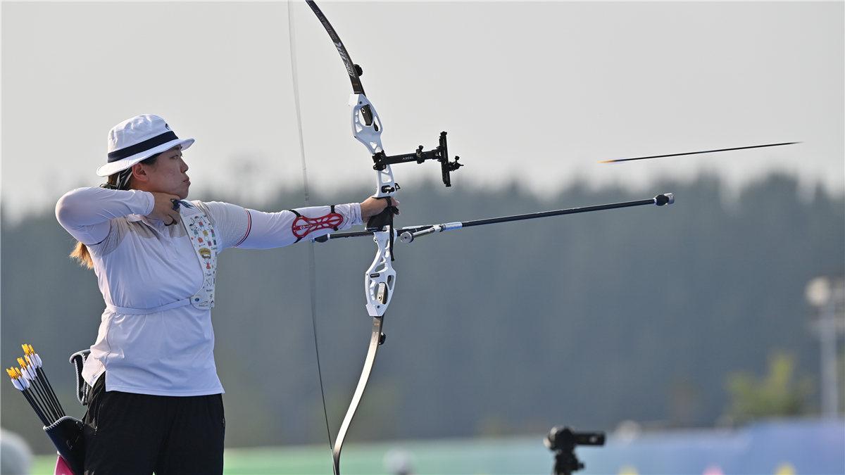 全運會-射箭女子反曲弓個人決賽:上海隊吳佳欣奪冠