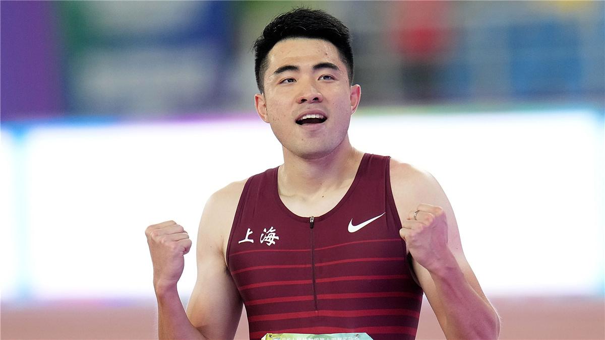 全運會-田徑男子110米欄決賽:謝文駿獲得冠軍