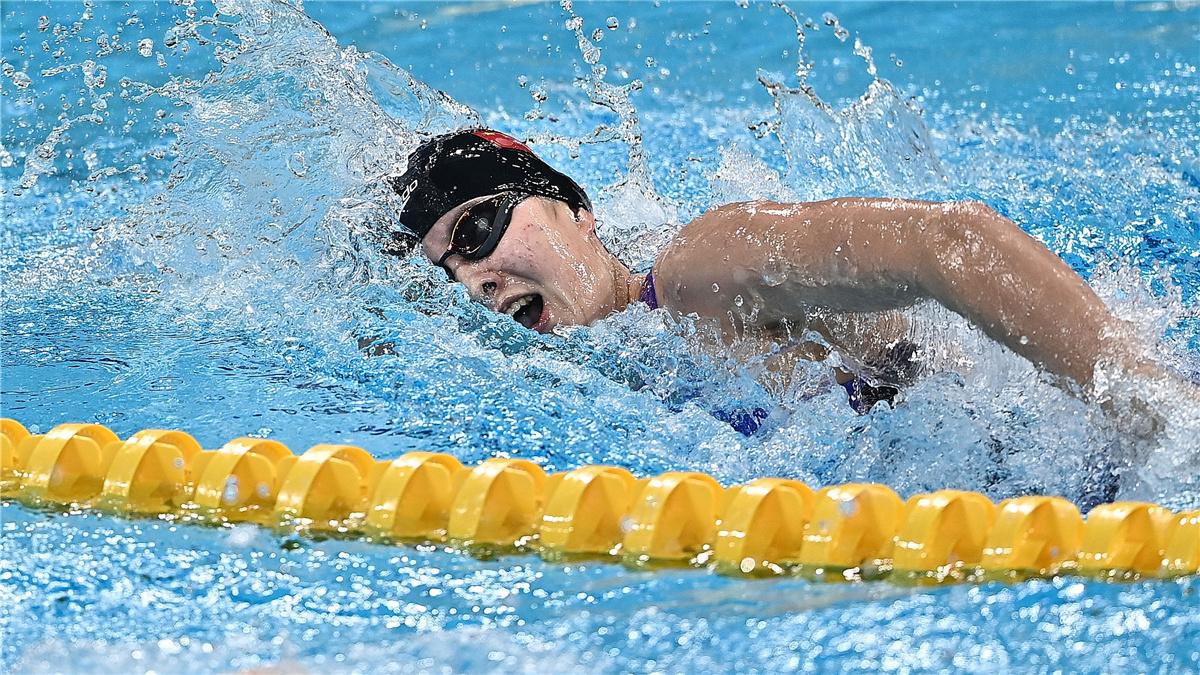 全運會-遊泳女子200米自由泳決賽:廣東隊選手湯慕涵奪得冠軍