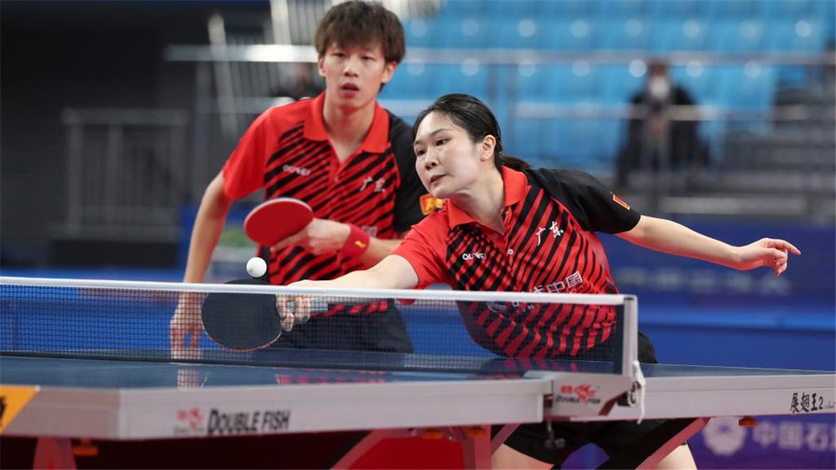 全運會-乒乓球混合雙打:廣東隊組合林高遠/黃穎琦晉級四強