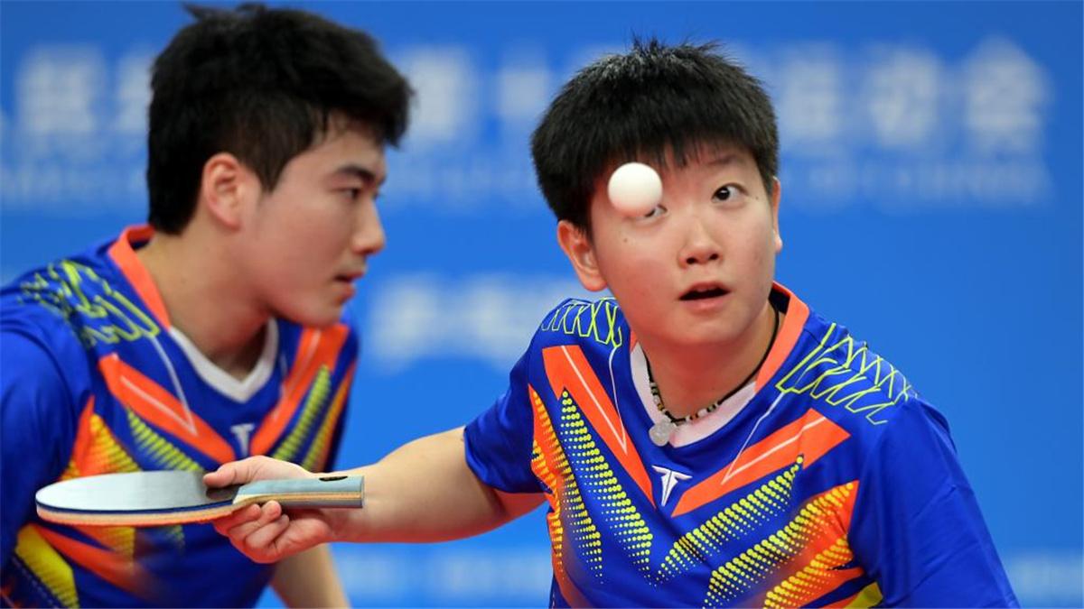 全運會-乒乓球混合雙打:江蘇隊組合孫聞/錢天一晉級四強
