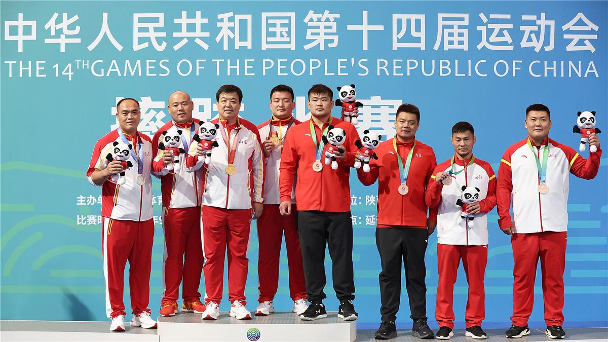 全運會-摔跤男子古典式97公斤級決賽:遼寧隊選手劉焱奪冠