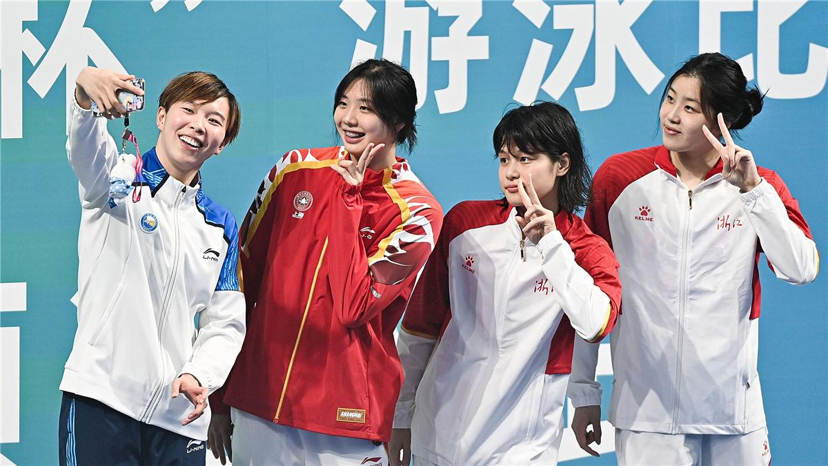 全運會-遊泳女子4X100米混合泳接力:聯合隊奪冠