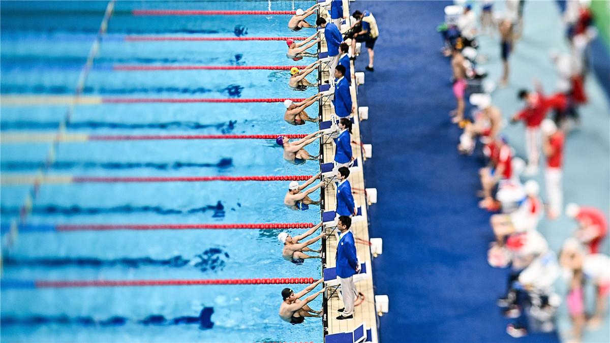 全運會-遊泳男子4x100米混合泳接力決賽:聯合隊獲得冠軍