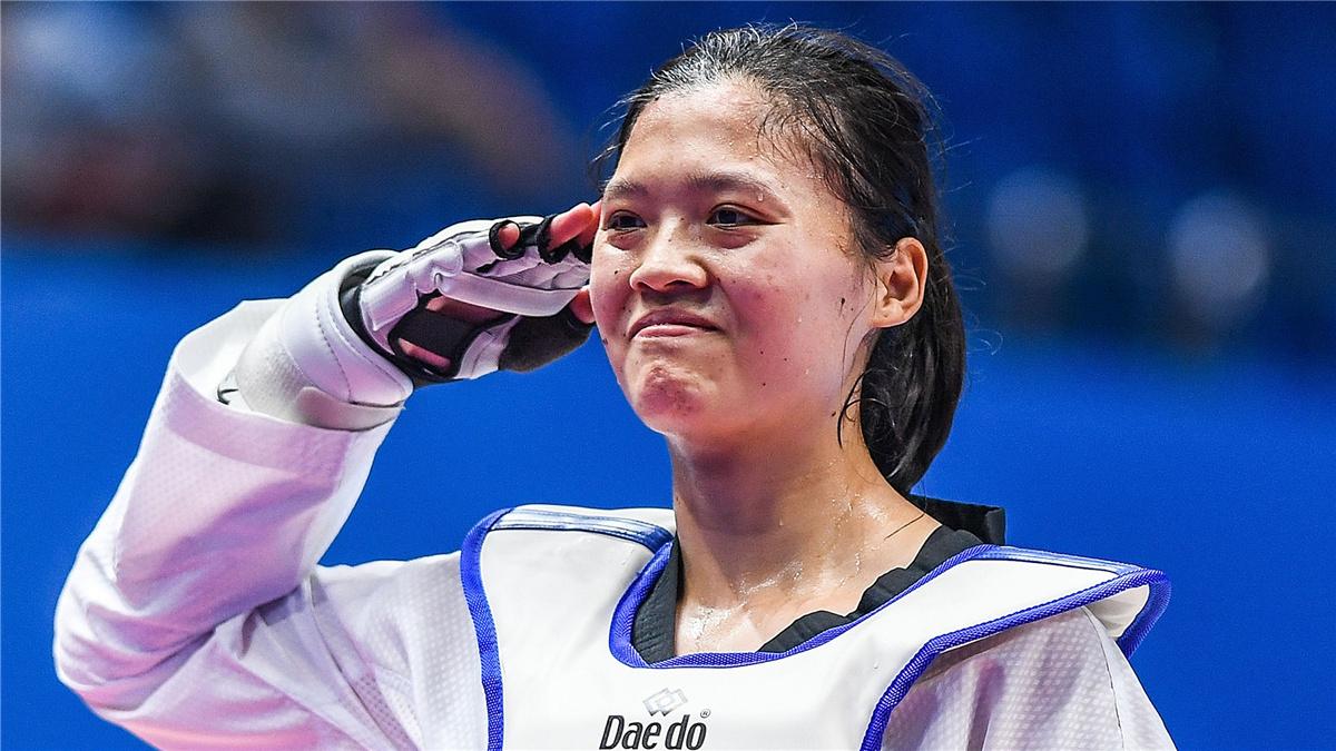 全運會-跆拳道女子67公斤以上級決賽:李晨獲金牌