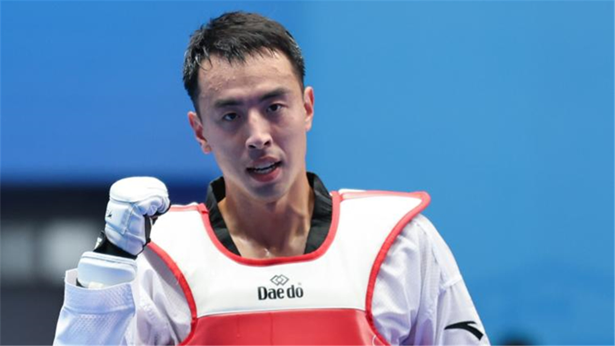 全運會-跆拳道男子80公斤以上級決賽:宋兆祥獲金牌