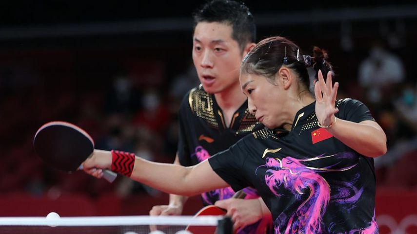 中日混雙組合將對決奧運乒臺首金