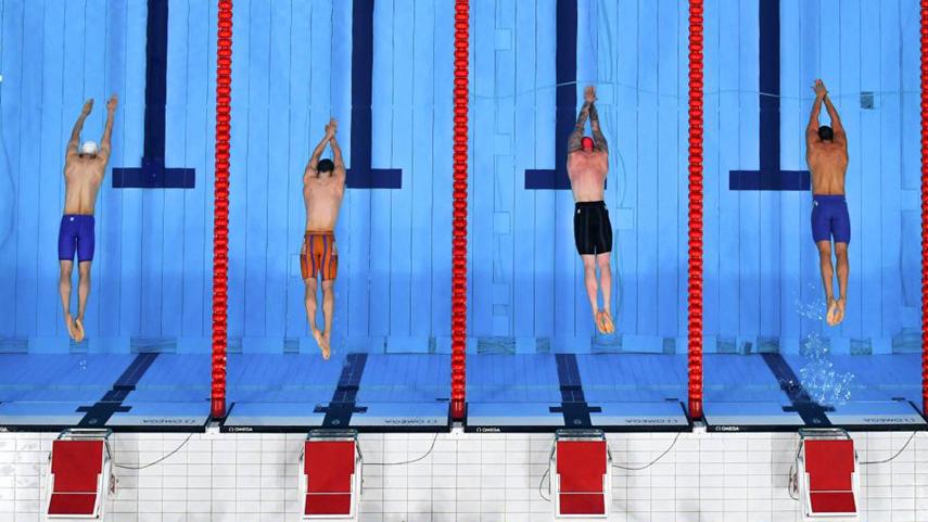 男子100米蛙泳決賽賽況