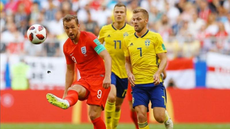 英格兰2:0瑞典晋级四强