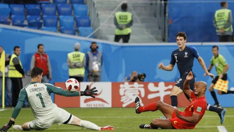 法国1:0比利时 帕瓦尔精彩射门瞬间