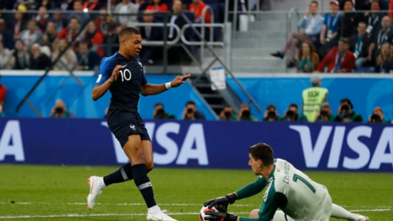 法國1:0比利時 精彩對抗