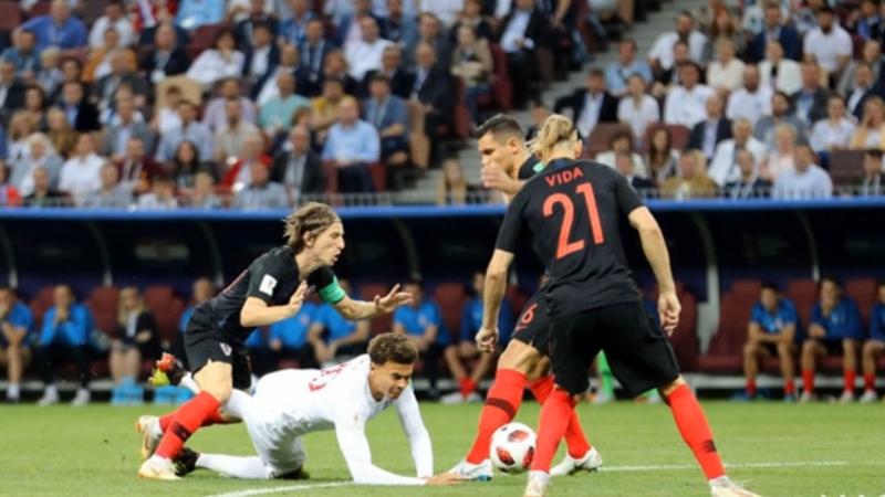 克罗地亚2:1逆转英格兰挺进决赛